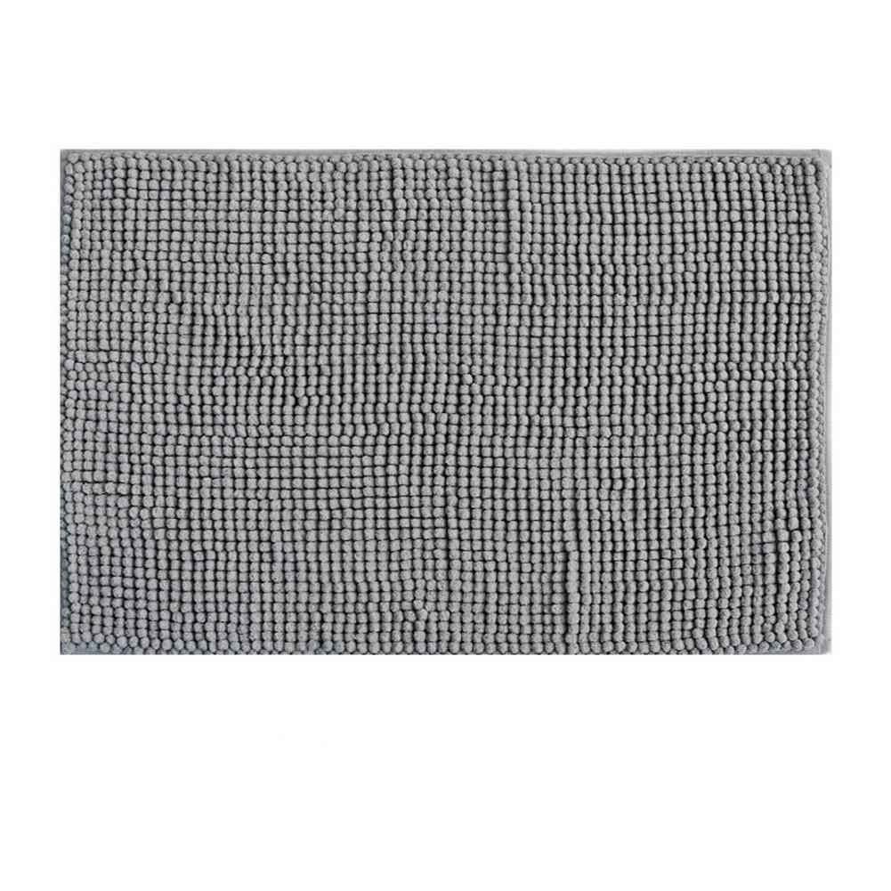 Chenille Bath  Mat Non-slip Microfiber Floor Mat For Kids Soft Washable Bathroom Dry Fast Water Absorbent Area Rugs New Shorthair-Dark Grey