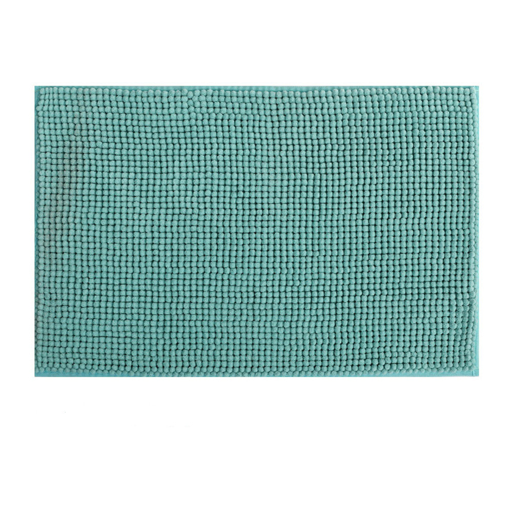 Chenille Bath  Mat Non-slip Microfiber Floor Mat For Kids Soft Washable Bathroom Dry Fast Water Absorbent Area Rugs New Shorthair-Water Green