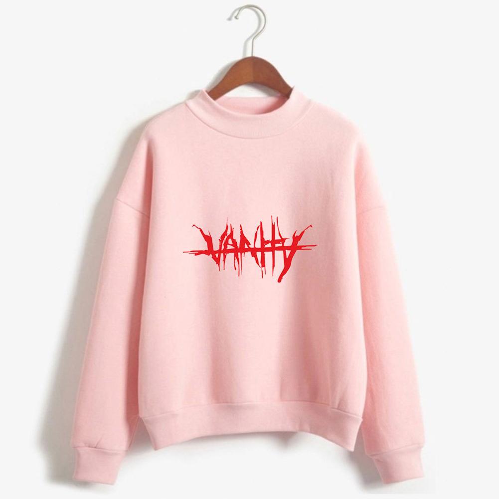 Men Women Couple Fashion Printed Fashion Casual Turtleneck Sweater Tops 5#_M