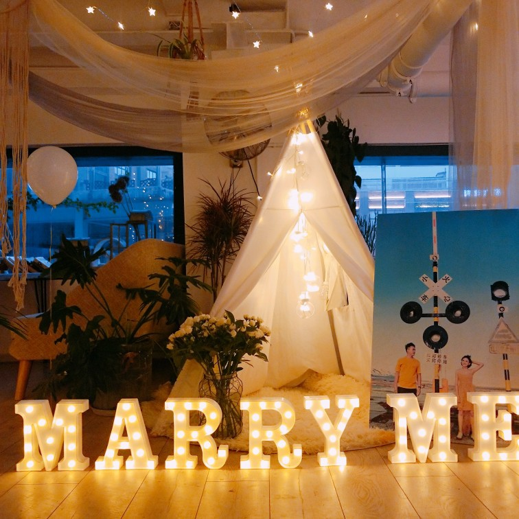 DIY English Letter Shape LED Night Light for Christmas Birthday Wedding Marriage Proposal Decor Photo Prop