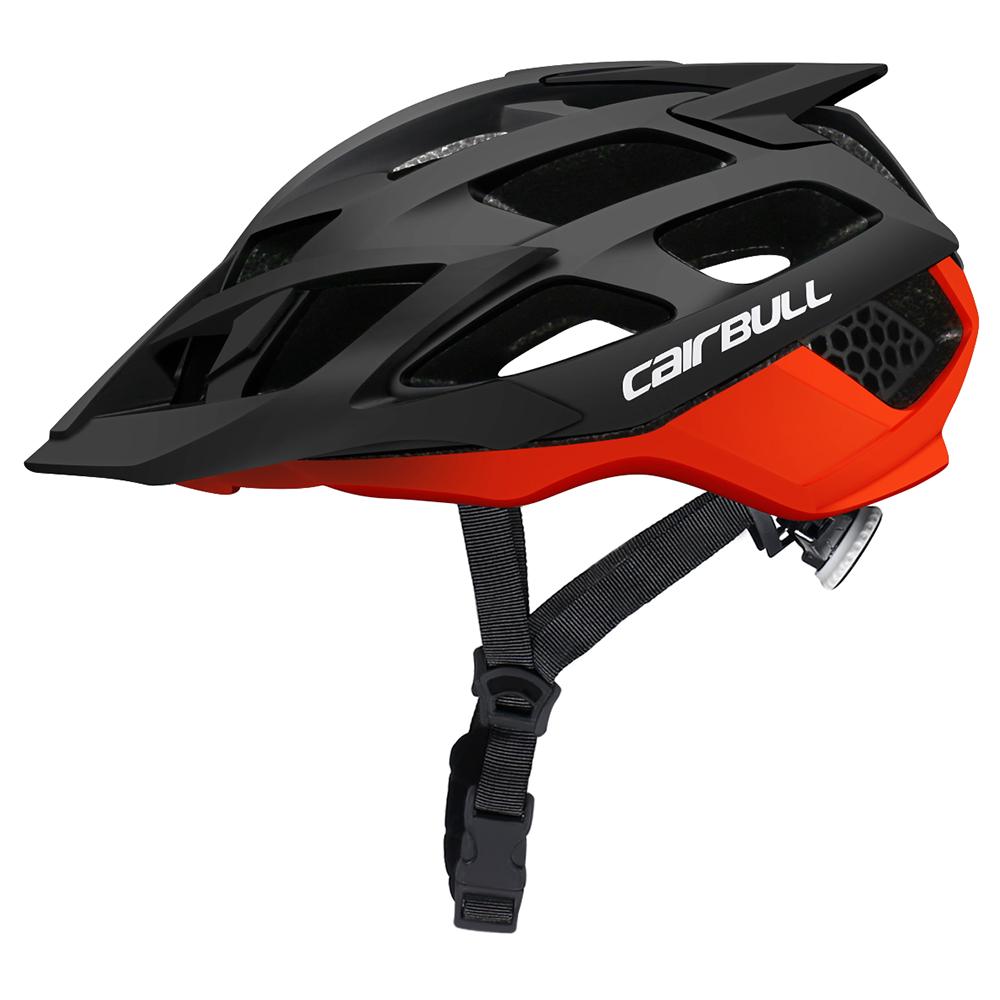 CAIRBULL AllRide Enduro All Mountain Bike Helmet High Comfort Multi-Sport Riding Helmet Black red_M