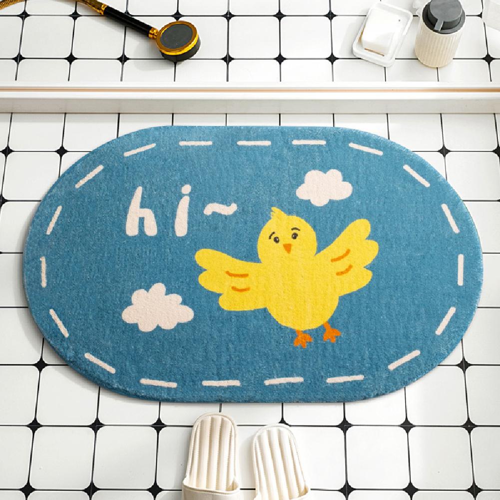 Cartoon Floor Mats Absorbent Quick Dry Foot Mat Rug for Bathroom Bedroom 40*60cm Bird