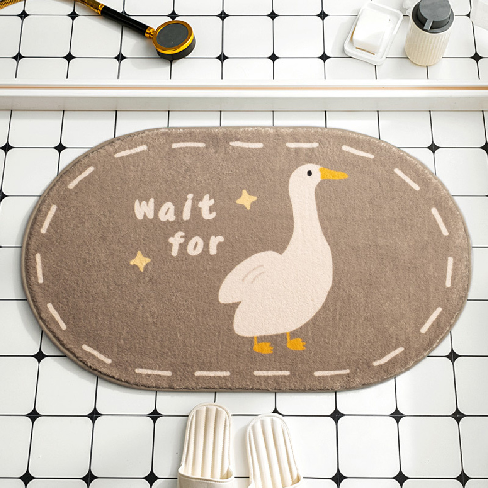 Cartoon Floor Mats Absorbent Quick Dry Foot Mat Rug for Bathroom Bedroom 40*60cm Goose