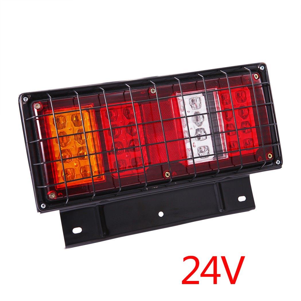 1Pair 32LEDs Tail Lights Ute Trailer Caravan Truck Stop Reverse Indicator Lamp 24V