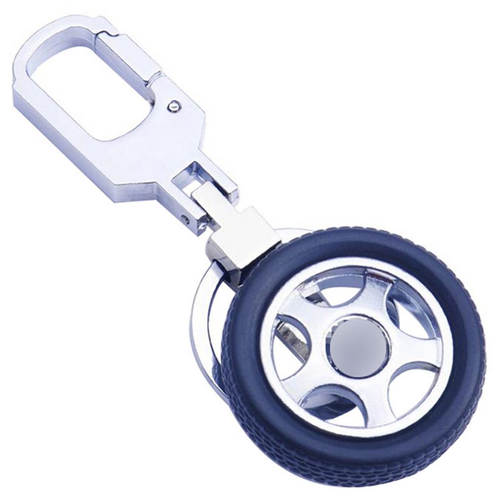 Rotatable Tire Wheel Shape Key Chain Keyring Creative Car Key Chain No LOGO_GX-192