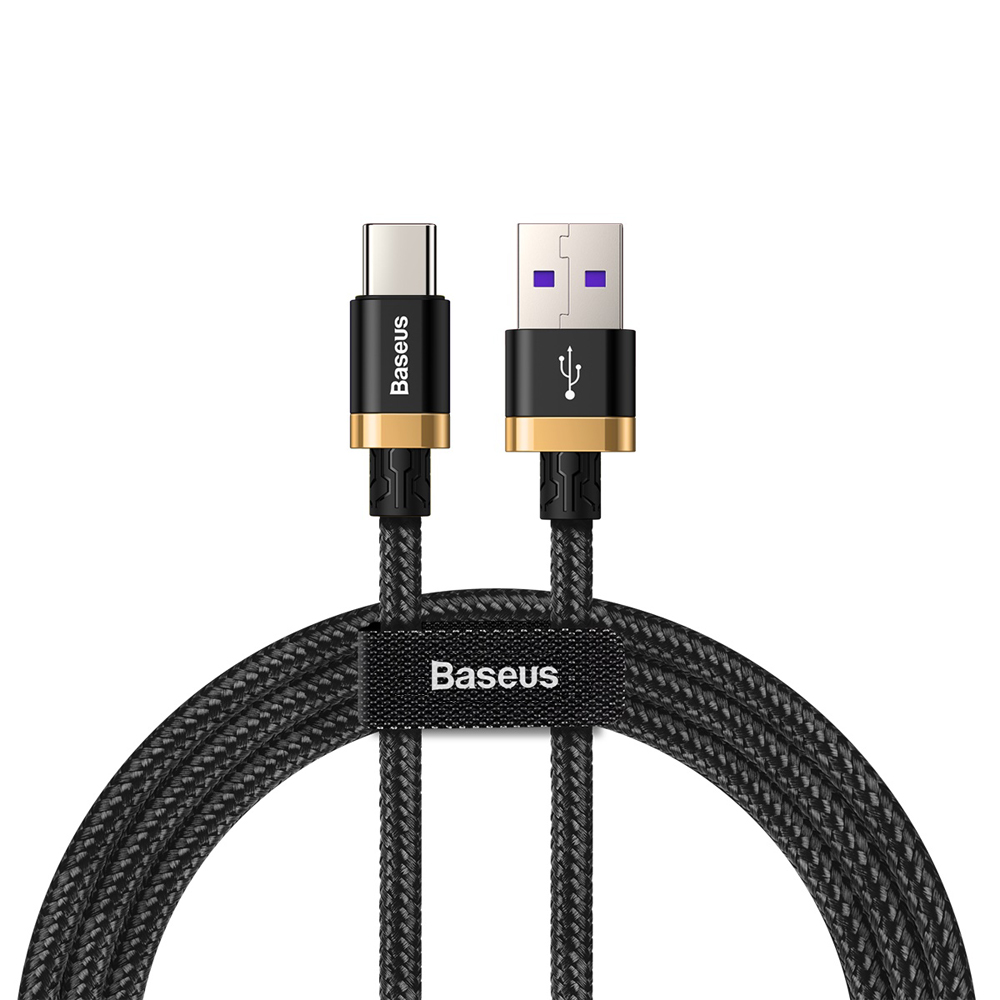 Baseus Purple Gold Red HW Flash Charge Cable USB for Type-C 40W 1m  Black gold_Black gold