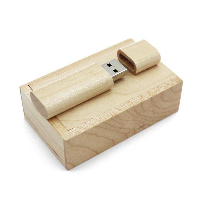 Ants Unique Wooden Guitar Shape Flash Drive USB Drive with Cute Little Box white_32G