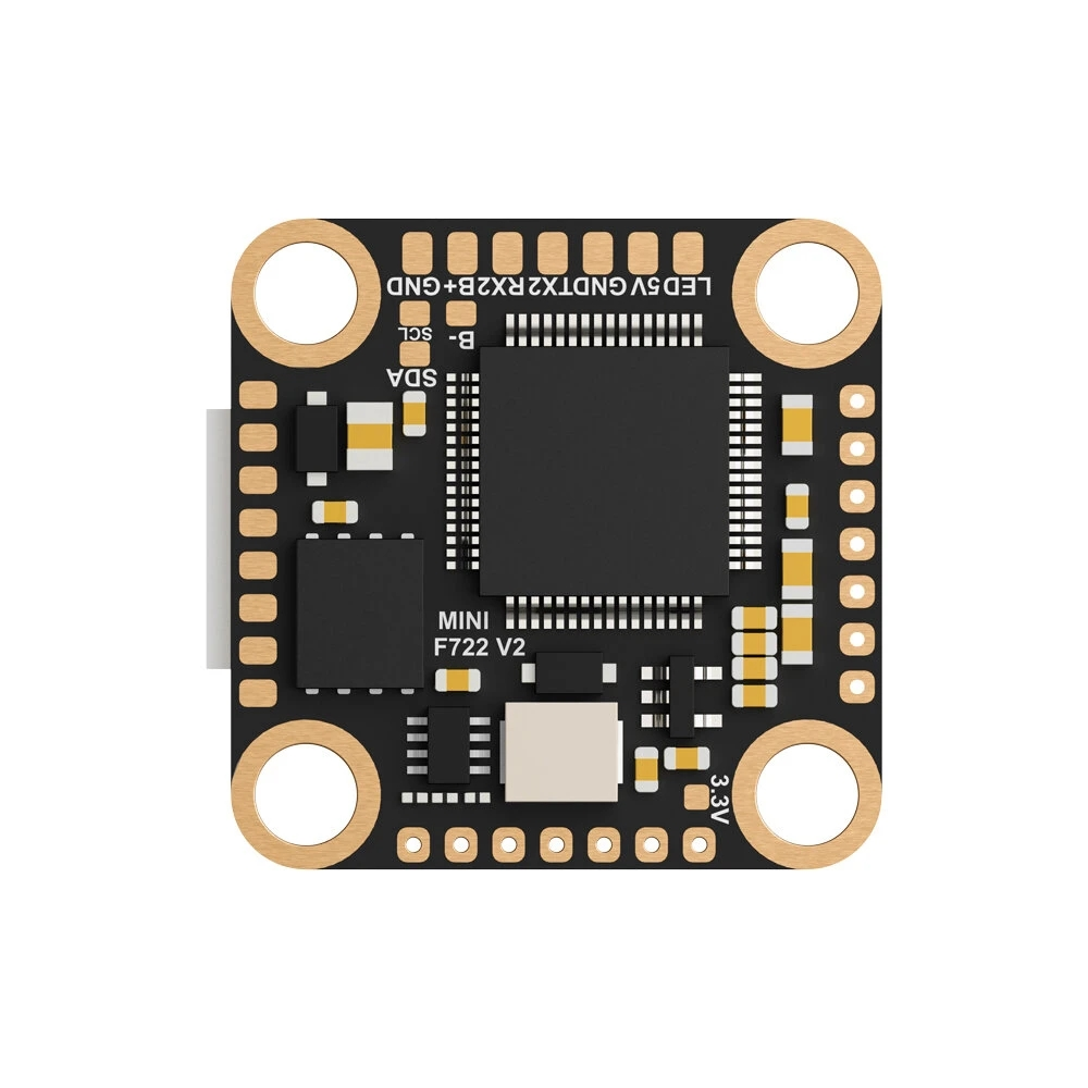 Foxeer Mini F722 V2 Flight Controller 2~6S 20*20mm Mounting Hole MPU6000 BetaFlight Compatibled with DJI Air Unit as shown