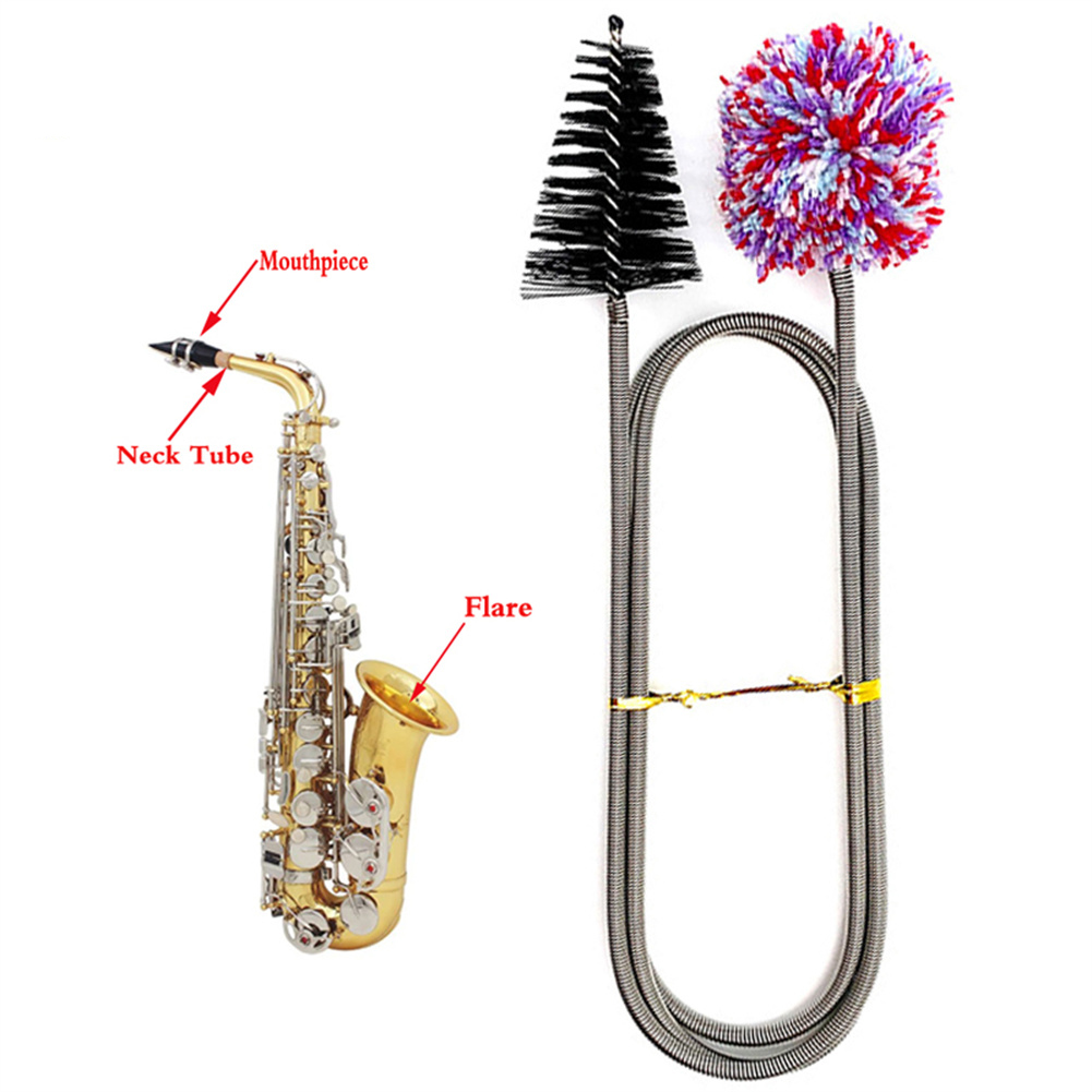 Cleaning Brush Saxophone Cleaning Brush Dual-head Multi-purpose Cleaning Brush 90cm
