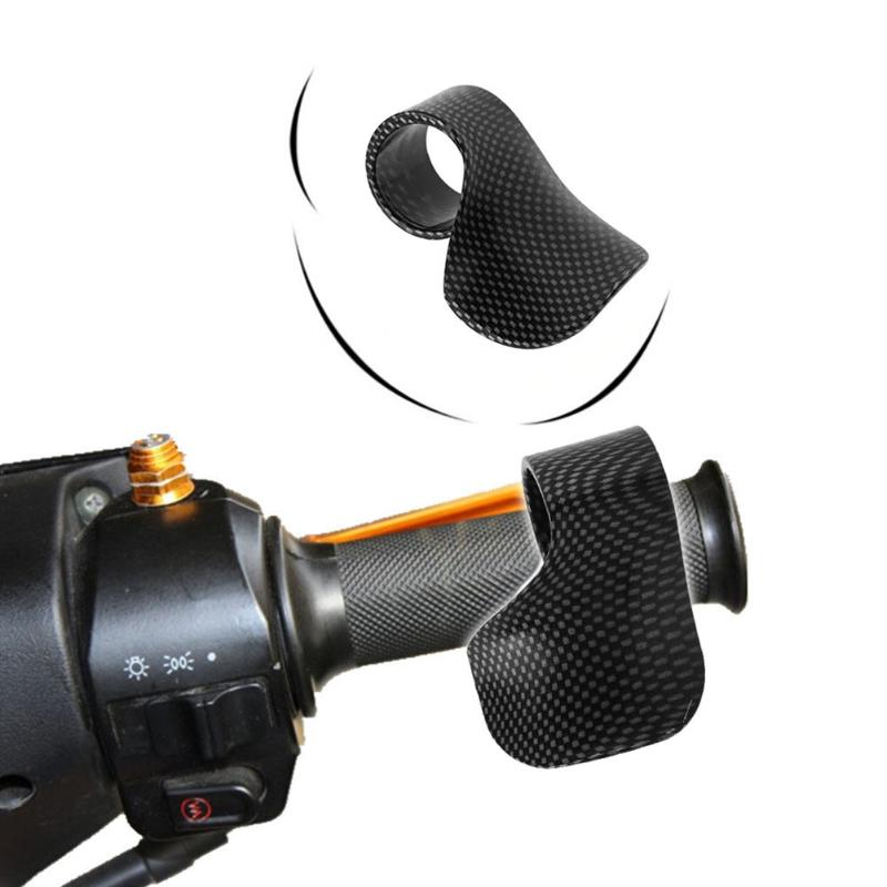 Universal Motorcycle E-Bike Grip Throttle Assist Carbon Fiber Moto Wrist Cruise Control Cramp Rest Grips Snake skin color black