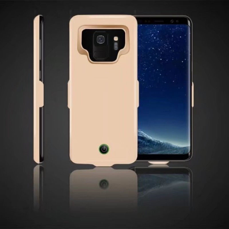 Portable High Capacity External Charging Case 7000mAh Extended Battery Protective Case for Samsung Galaxy S9/S9Plus Golden