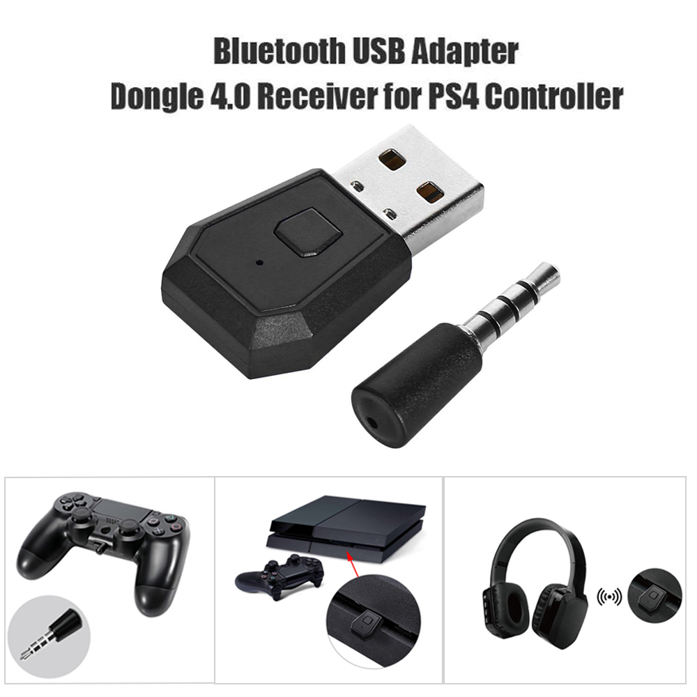 Mini USB Bluetooth Adapter 4.0 Adapter Dongle Receiver For PS4 Controller black
