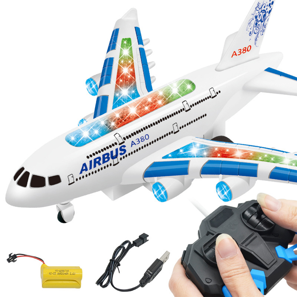A380 Airbus Toys RC Airplane with Music Lights Large Electric-Remote-Control-Airplane Toy Random Color