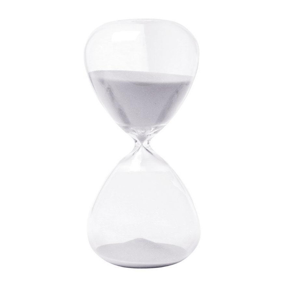 Creative Sand Clock Hourglass Timer Gifts as Delicate Home Decorations white