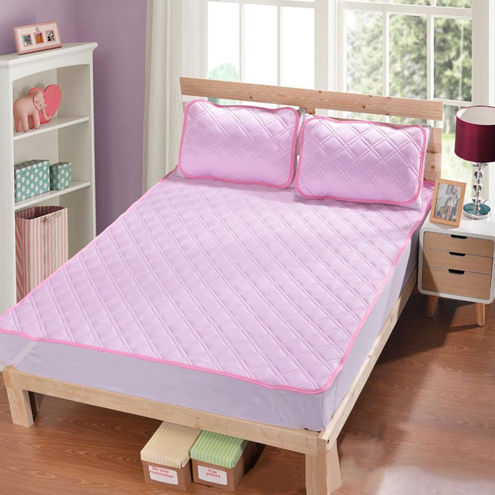 Cool Mattress Folding Cellular Mesh Summer Sleeping Mat for Home Bed  Pink