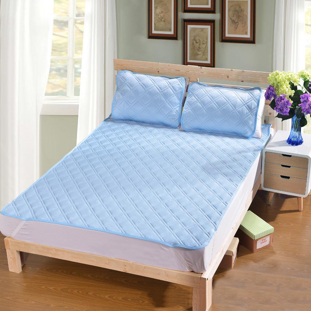 Cool Mattress Folding Cellular Mesh Summer Sleeping Mat for Home Bed  blue