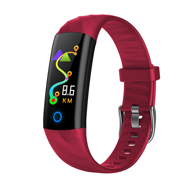 S5 Smart Bracelet Fitness Tracker Waterproof Smart Wristband Heart Rate Monitor Activity Tracker Blood Oxygen Sport Smart Band red