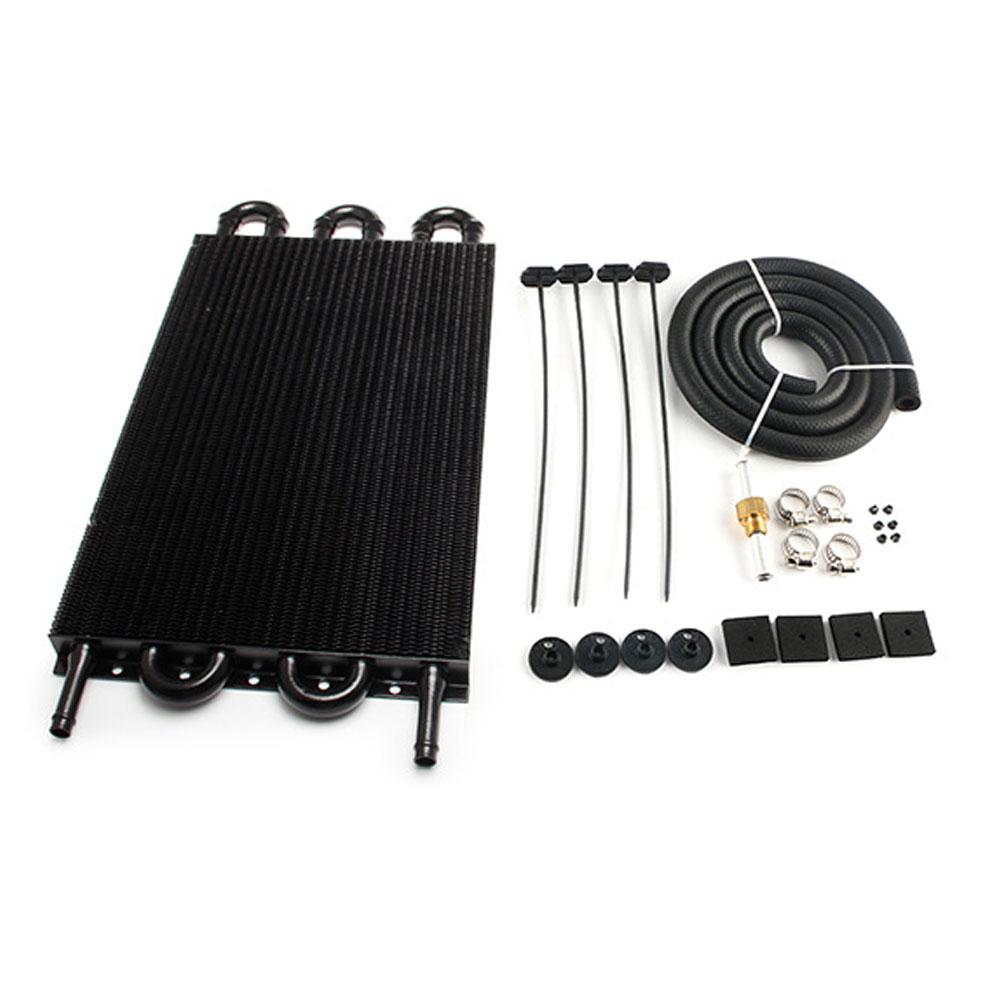 Car  Condenser 6 P Tube And Fin Transmission Cooler Air Conditioning Tube Belt Condenser Universal Oil Cooler Black