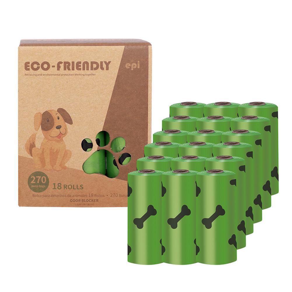 Dog Poop  Bag Pet Poop Picker Degradable Poop Picker Eco-friendly Dog Waste  Disposal  Bags 18 rolls (environmental printing 1.5 ribbon fragrance)
