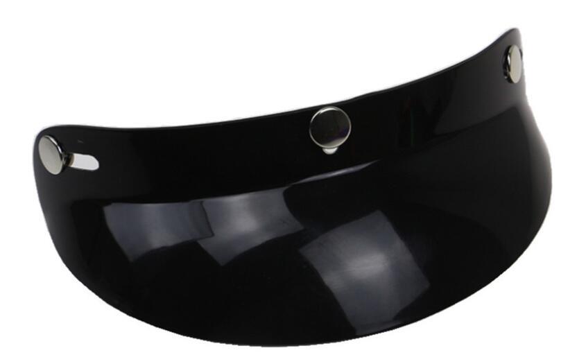 Motorcycle Helmet Brim Three-buckle Motorcycle Cycling Helmet Peak Top Sun Shade Visor Shield black