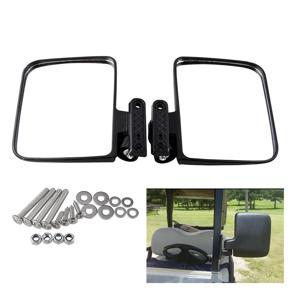 Golf Cart Mirrors Universal Folding Side View Mirror For Golf Carts Club Car black