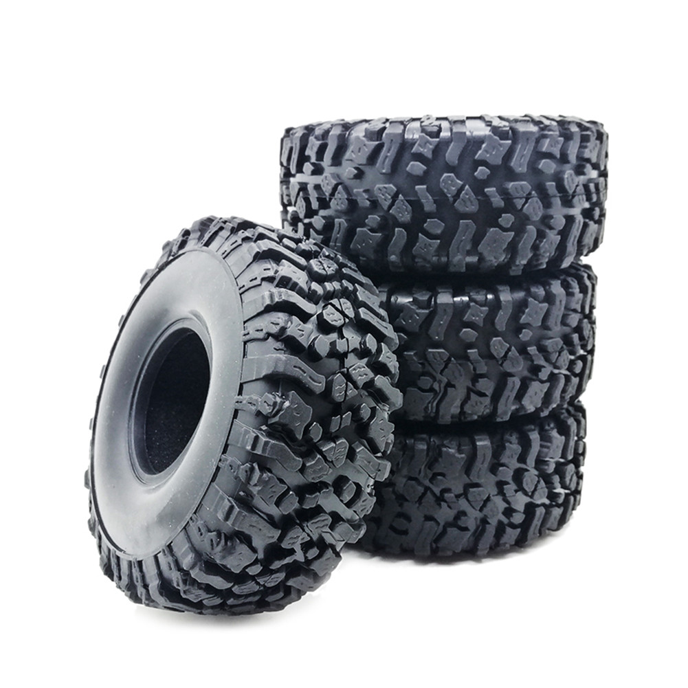 4Pcs 1.9in Rubber Rocks Tyres / Tires for 1:10 RC Rock Crawler car for Axial SCX10 90047 D90 D110 TF2 TRX-4 120MM  default
