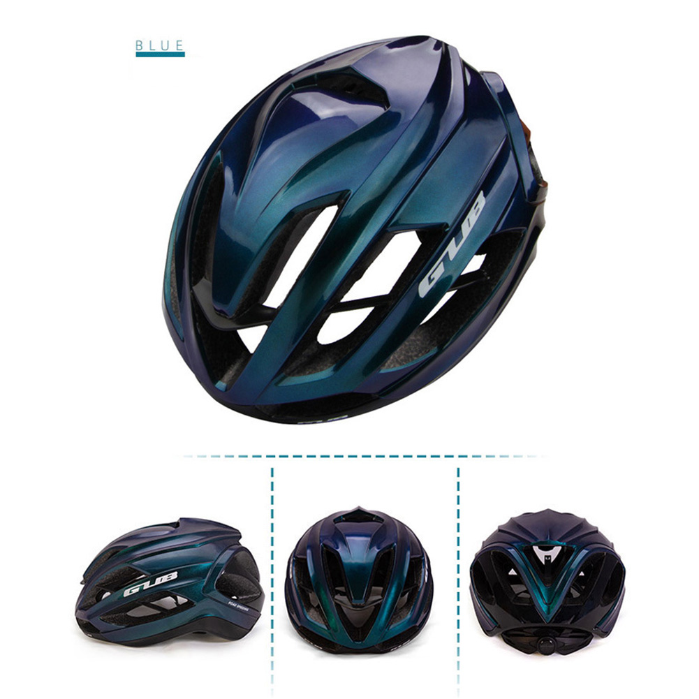 Cycling Helmet Ultralight Breathable Racing MTB Road Bike Helmet Safety Cap Man Women Aurora Blue_L