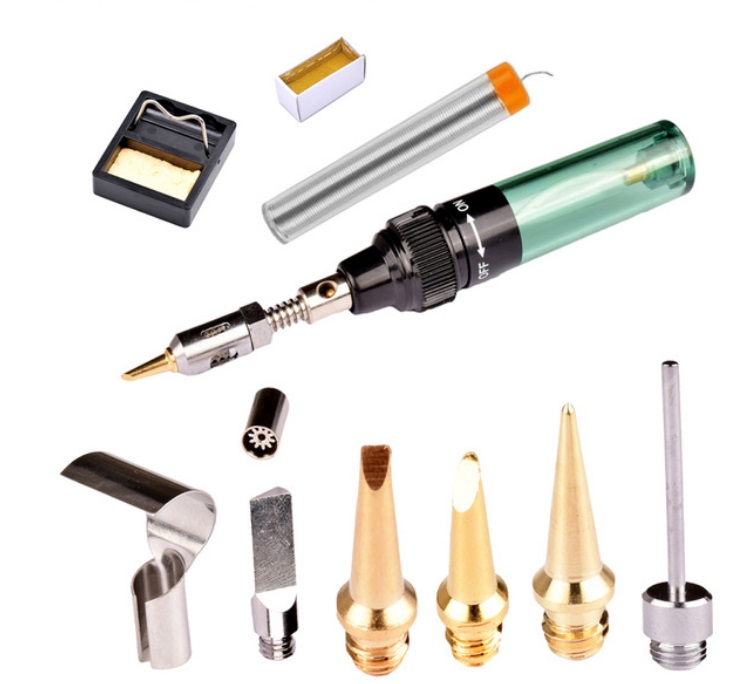MT-100 Electric Gas Soldering Iron Gun Blow Torch Welding Tools  Package A