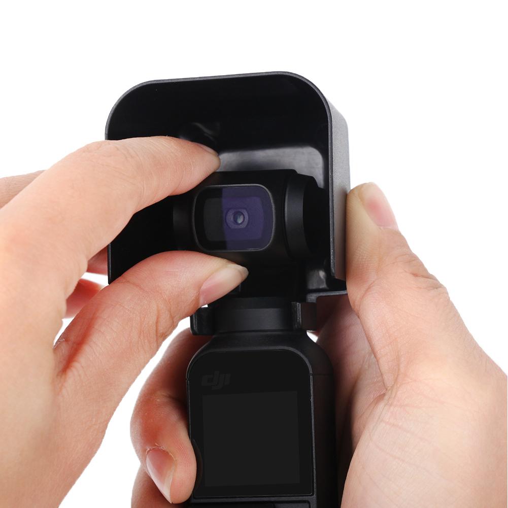 Sunnylife Camera Protective Cover Sunshade Lens Hood for DJI OSMO POCKET black