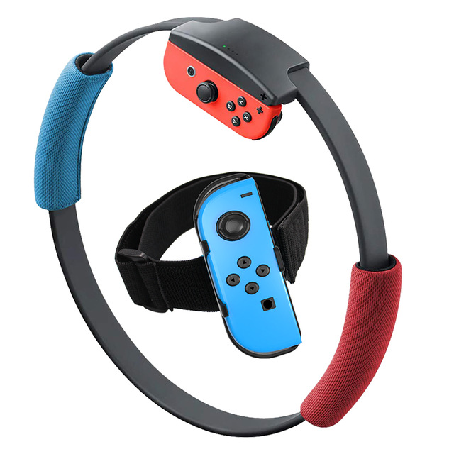 Adjustable Elastic Leg Strap Sport Band Ring-Con Grips Leg for Nintend Switch Joy-con Ring Fit Adventure Game As shown