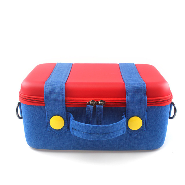 Portable Carrying Case Travel Cloth Gamepad Game Console Protective Storage Bag For Switch As shown