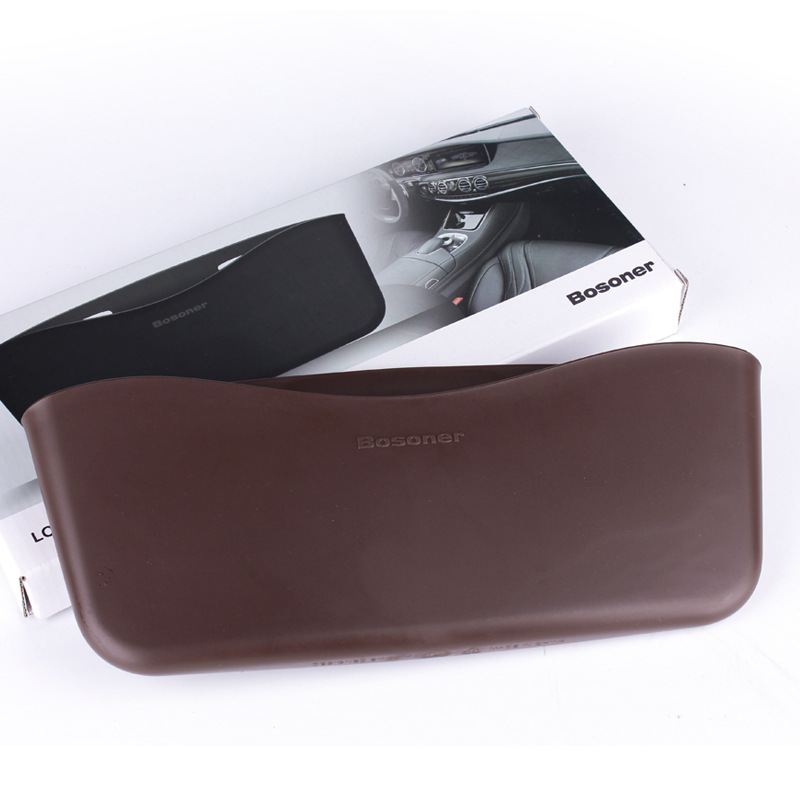 Seat  Storage  Box Seat Back Sundries Mobile Phone Organize Storage Car Gap Storage Trash Can Brown