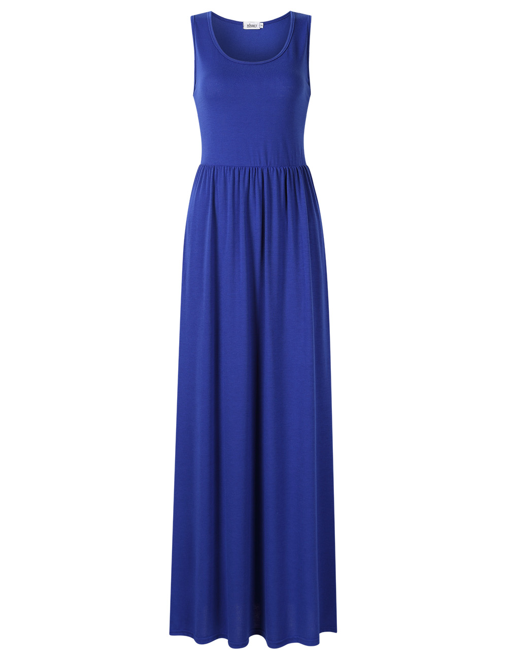 [US Direct] Ladies vest pleated pocket long skirt blue 1_M missky