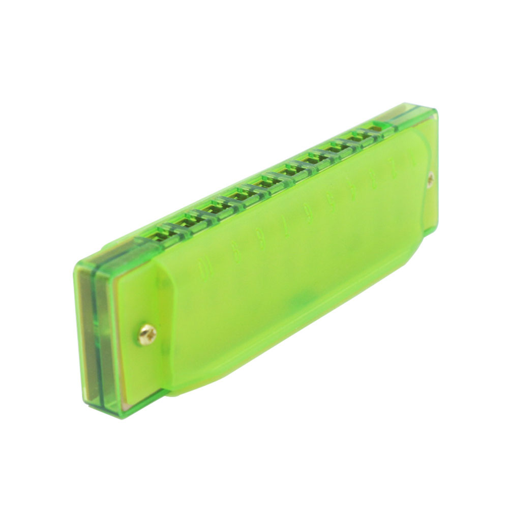 10 Holes Plastic Harmonica Child Musical Toys Gift Musical Instrument green