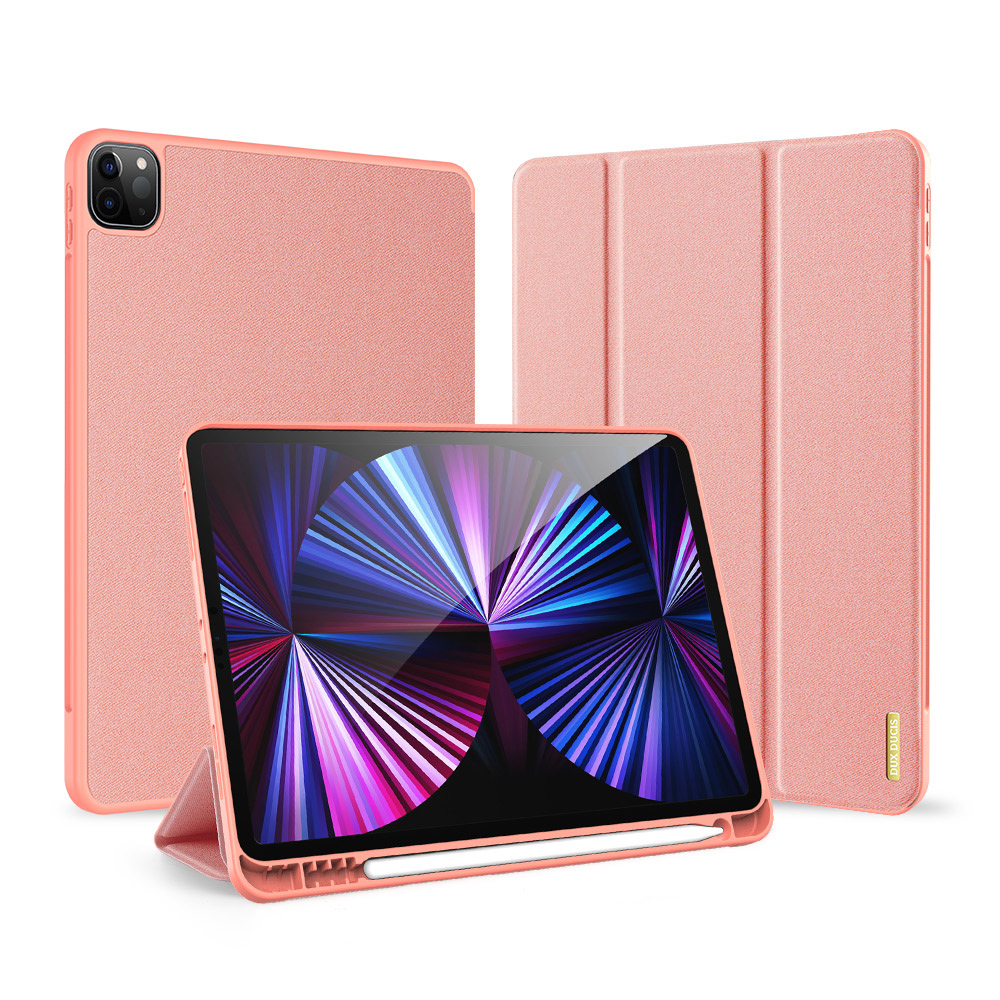 Solid Color Protective Case Tablet Case Cover With Pen Tray For Ipad Pro 11 2021 Elegant Pink