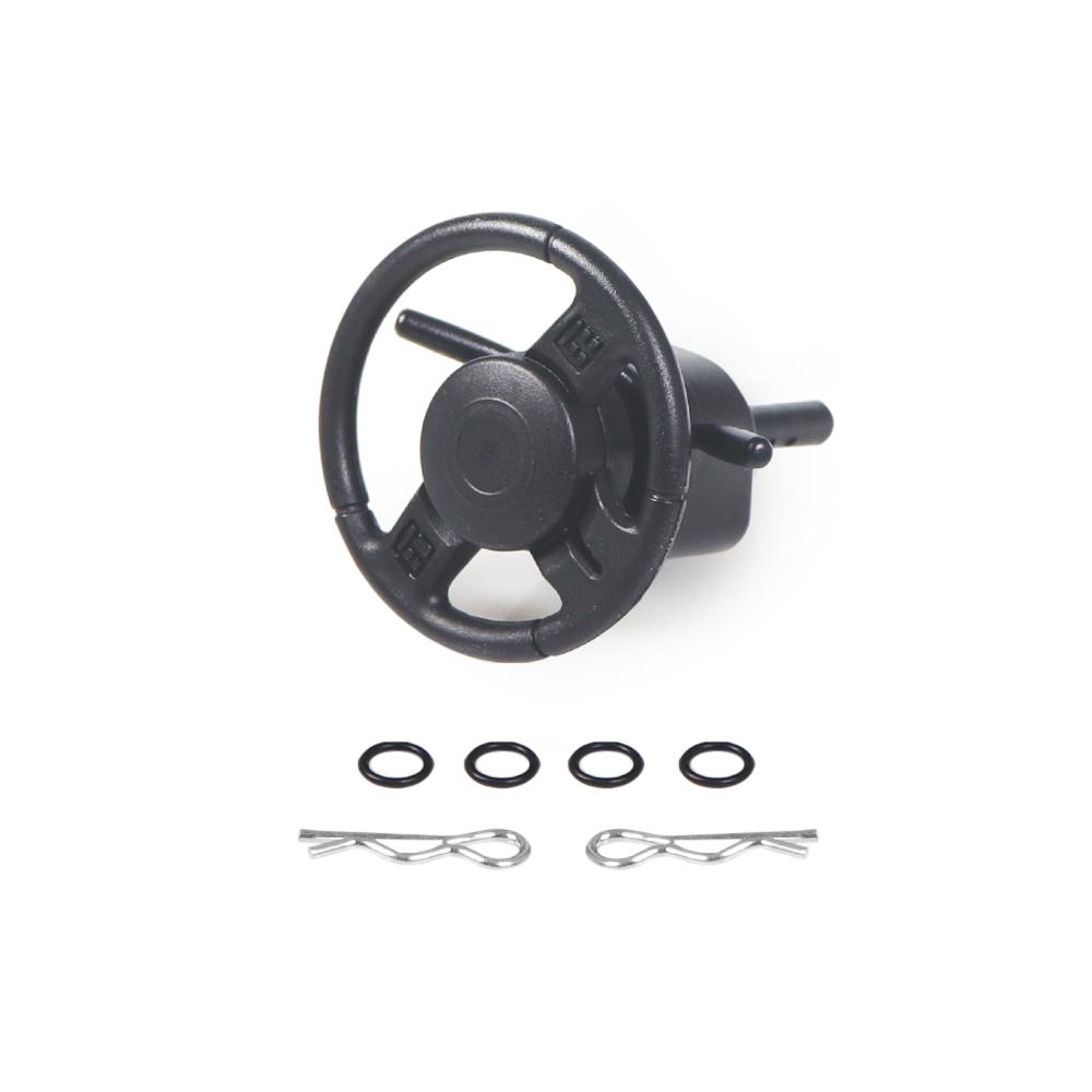 1PC Plastic RC Car Steering Wheel for 1:10 RC Rock Crawler Axial SCX10 90046 WRAITH RR10 Traxxas TRX4 D90 D110 black