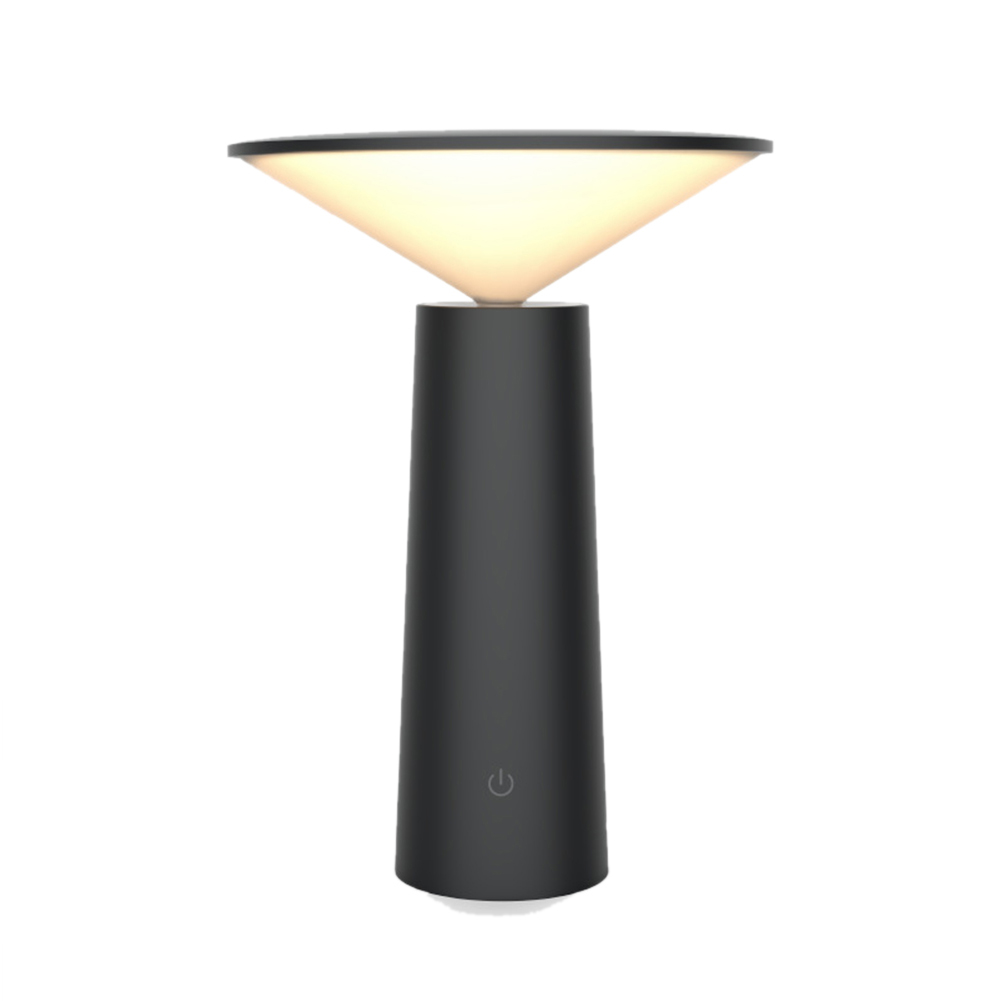 Table Lamp Learning Reading Eyeshield LED Table Lamp Touch USB Charge Night Light black