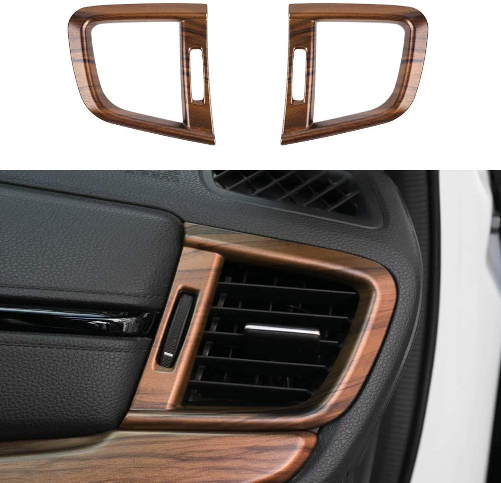 2pcs Air  Vent  Trims Side Wind Outlet Frame For 17-21 Honda Cr-v Peach Wood Grain Interior Decoration Original wood grain_2-piece set of large air outlet frame of instrument panel