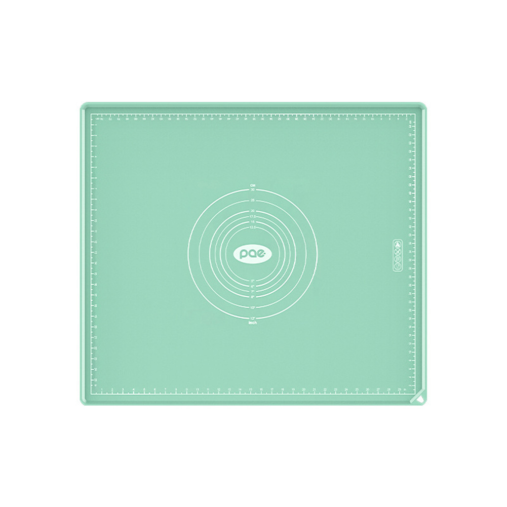 Kitchen Rolling Mat Food Grade Silicone Non-stick Dough  Mat With Scale green_40*60CM