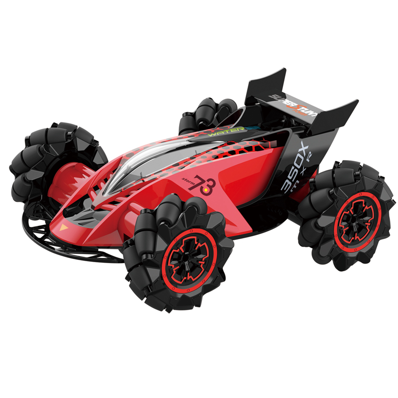 Z109S 2.4G 4WD RC Stunt Car Watch Gesture Sensor Control Spray Toys for Kid Gift with LED Light red