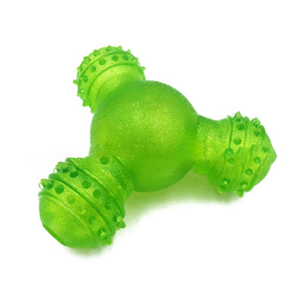 Triangular Ball Shape Food Leakage Chew Puzzle Toy for Pet Dog Smelling Training