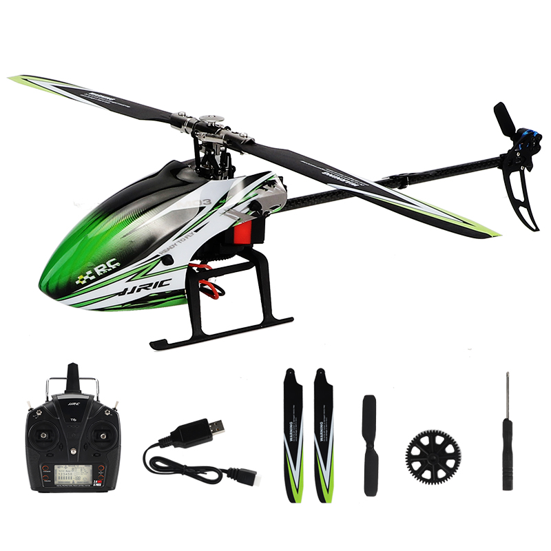 2.4G RC Helicopter 6CH Radio Remote Controlch Brushless Motor 3D / 6G Stunt Remote Control Helicopter Drop Resistance Mode 1+2