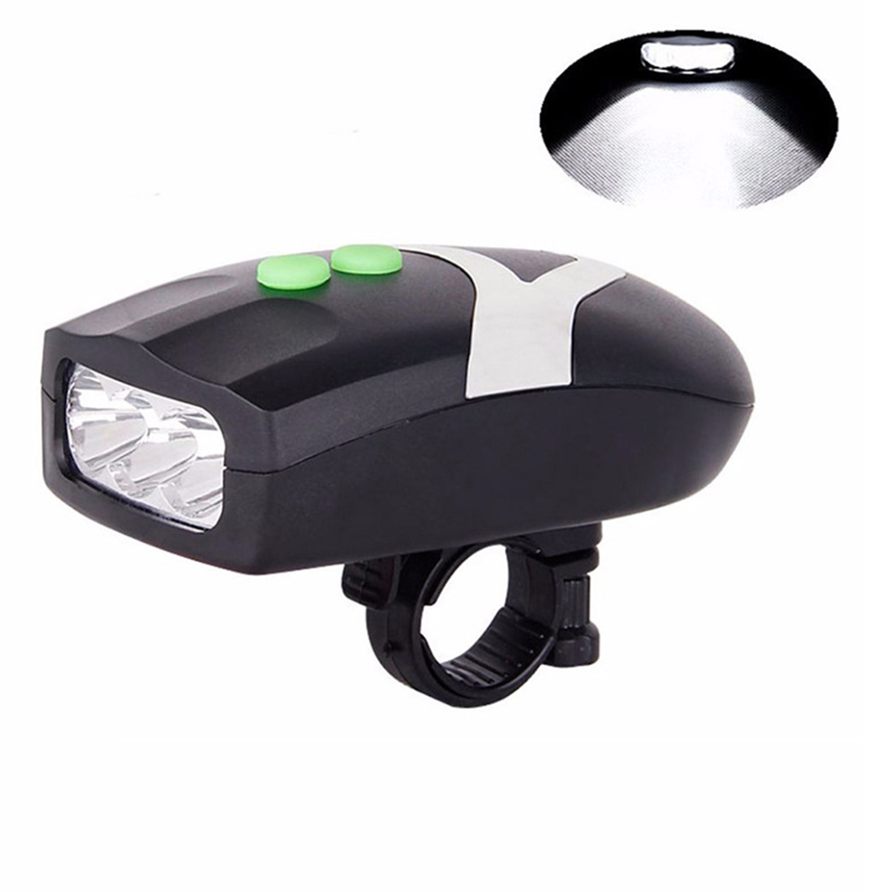 Bicycle Mountain Bike 3LED Headlight with Electronic Horn Bicycle Accessories  black