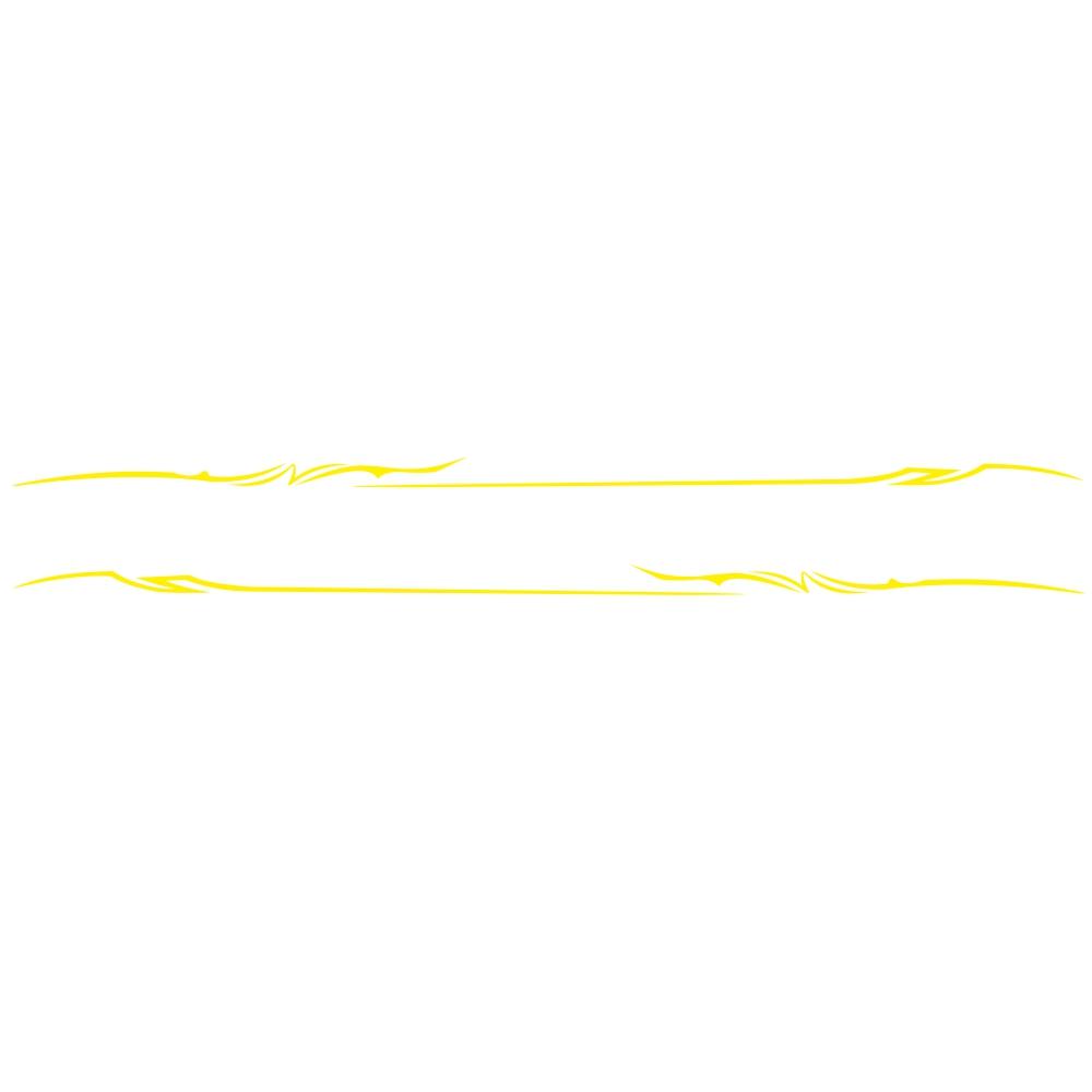 2Pcs Car Sticker Car Body Side Stripes Vinyl Graphics Sticker Decals  yellow