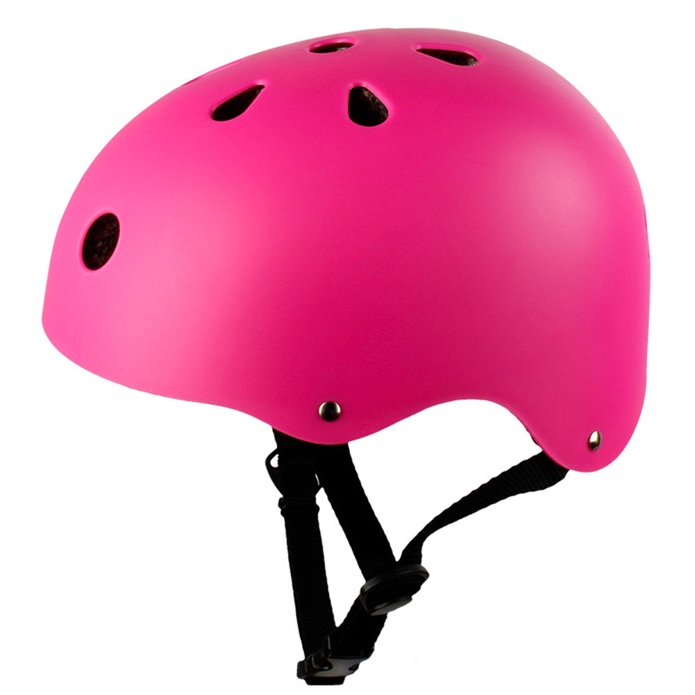 Adult Outdoor Sports Bicycle Road Bike Skateboard Safety Bike Cycling Helmet Head protector Helmet Matte-pink_M