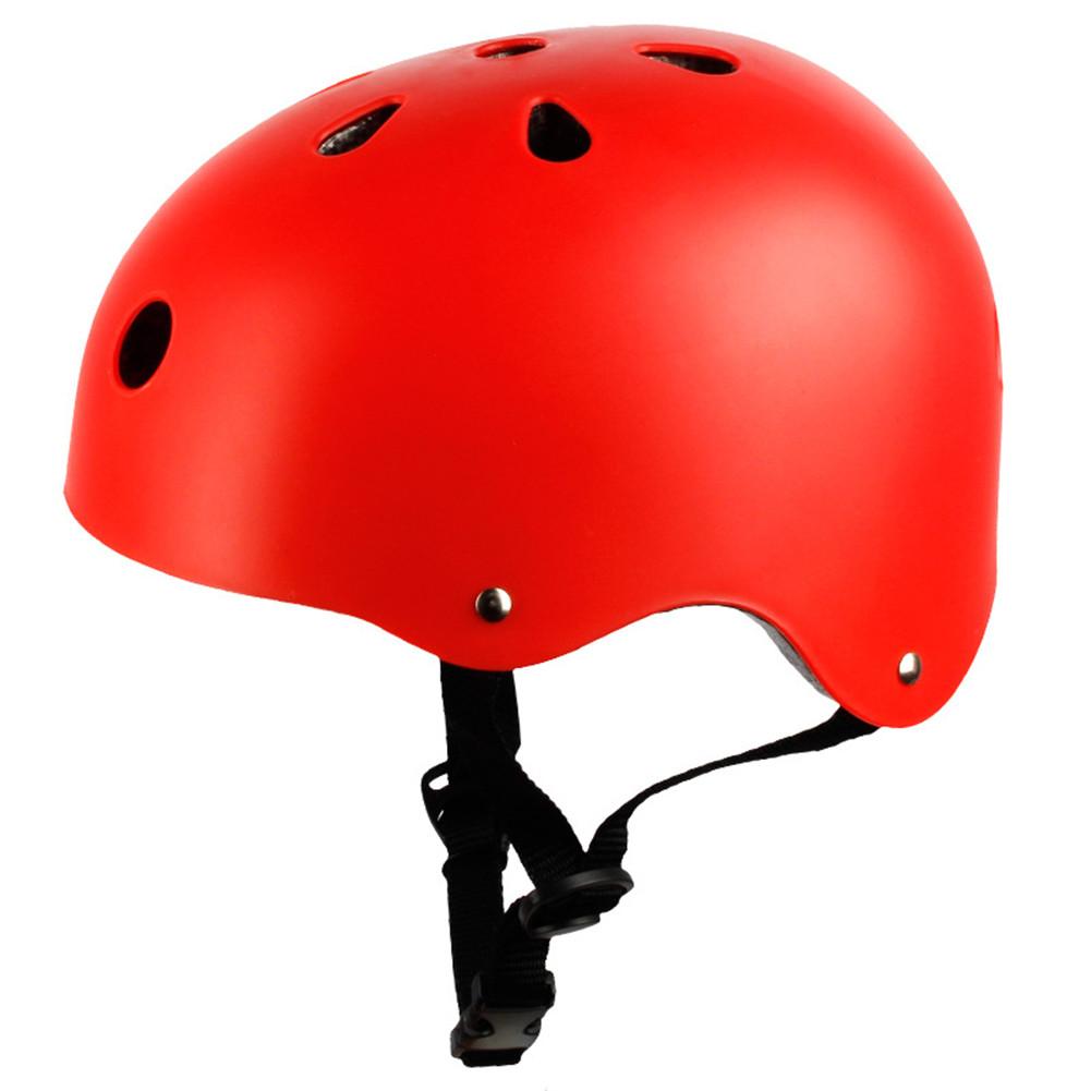 Adult Outdoor Sports Bicycle Road Bike Skateboard Safety Bike Cycling Helmet Head protector Helmet Matte-red_M
