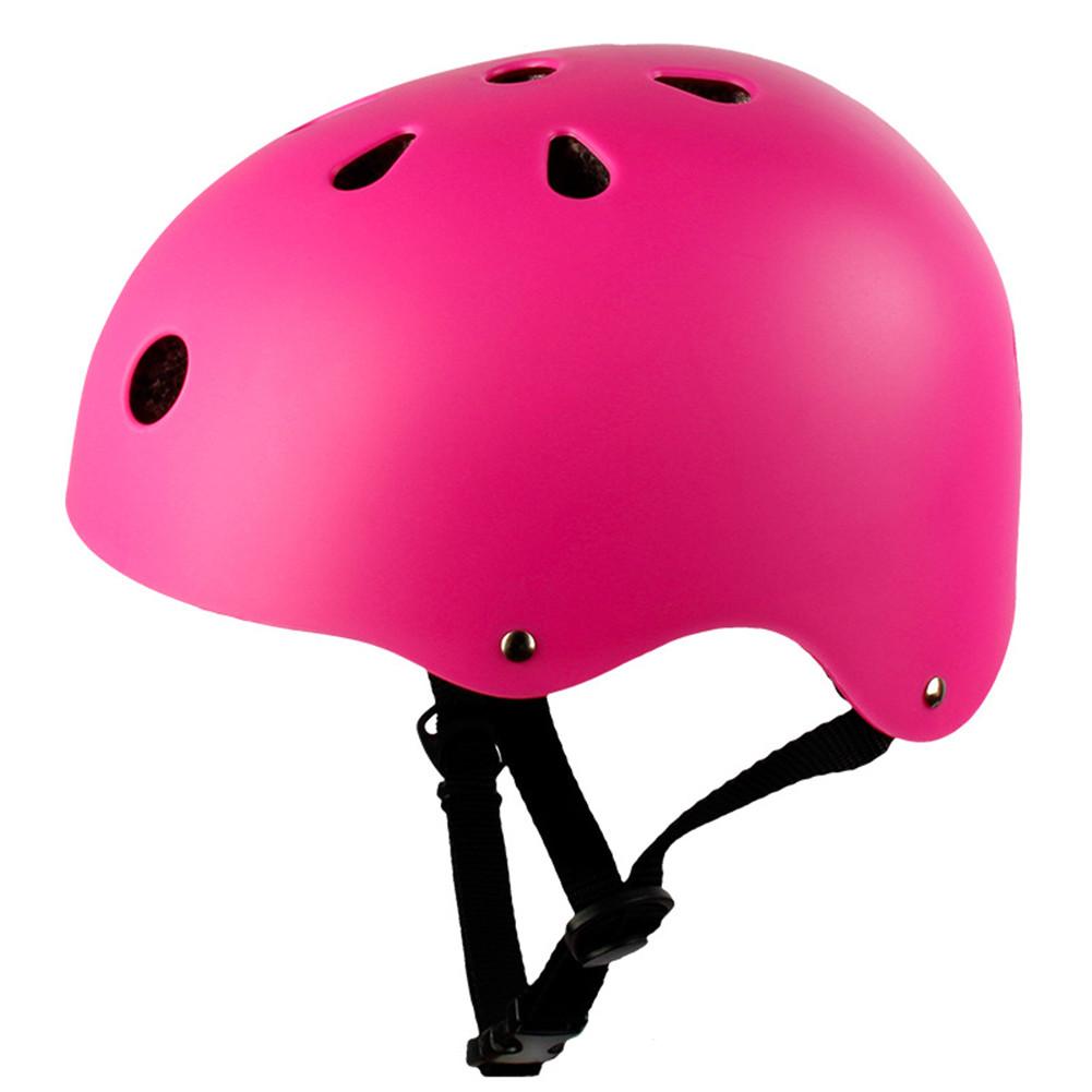 Adult Outdoor Sports Bicycle Road Bike Skateboard Safety Bike Cycling Helmet Head protector Helmet Matte-pink_L