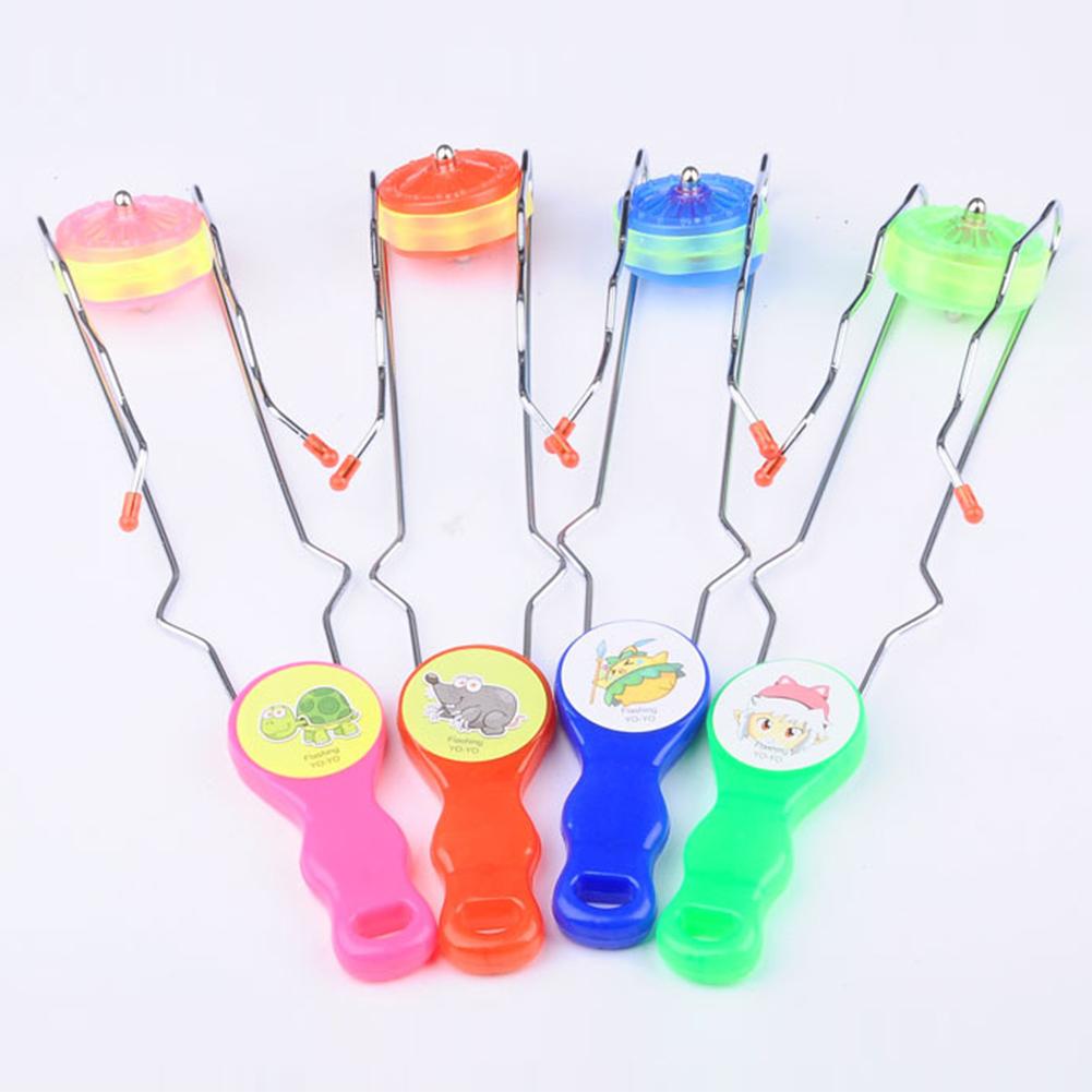 Creative Light-up Gyro Wheel Rail Twirler Spinning Flashing Gyro Science Toy Kids Gifts Educational Puzzle Toys