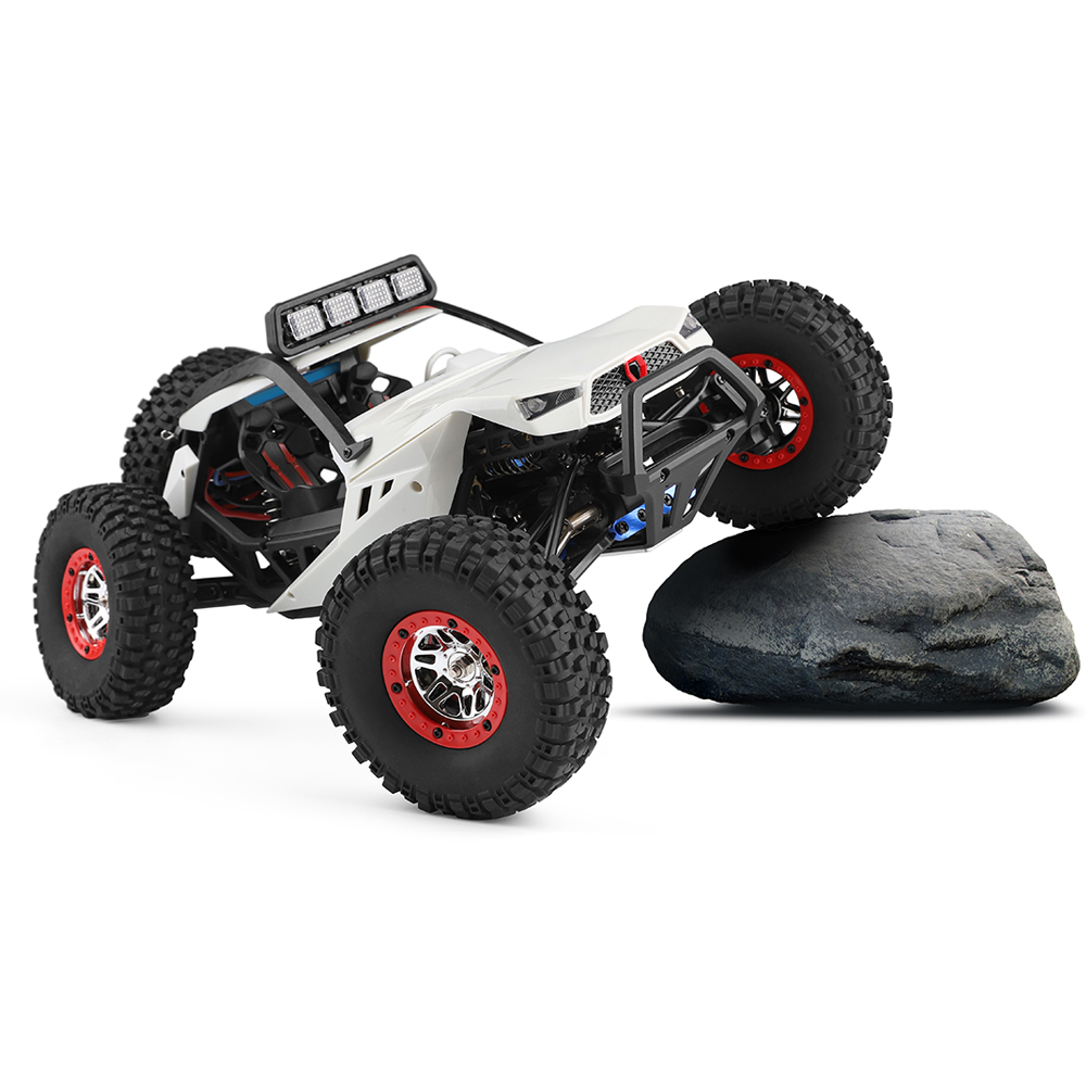 Wltoys 12429 1/12 2.4G 4WD High Speed 40km/h Off-Road On-Road RC Car Buggy With Head Light white