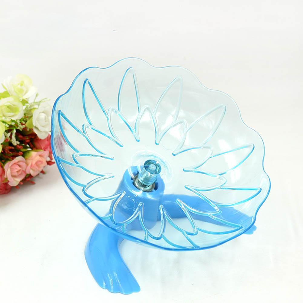 Hamster Bracket Running  Disc Transparent Sports Toy Pet Supplies Blue